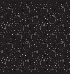pepper pattern with dots on a dark background vector image vector image