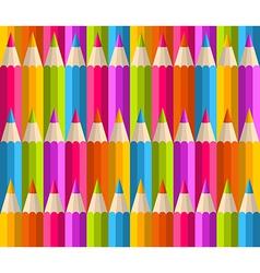 Rainbow pencils pattern vector image vector image