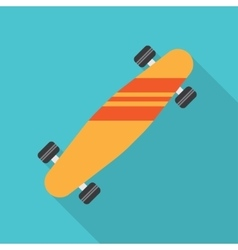 skateboard flat icon vector image vector image