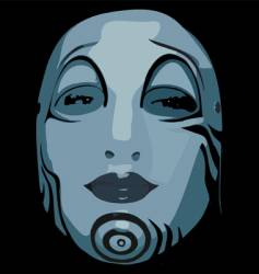 woman face mask vector image vector image
