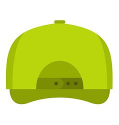 baseball cap back icon flat style vector image vector image