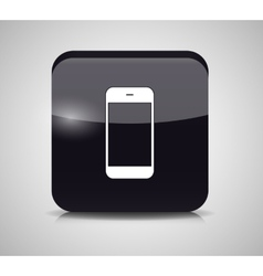 Glass Phone Button vector image