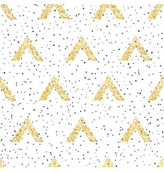 gold geometric triangle with dots background vector image vector image