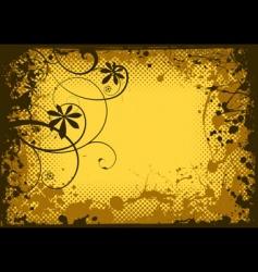 grunge splat border vector image vector image