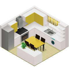 isometric kitchen icon vector image vector image