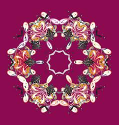 new year snowflake cute abstract snowflake design vector image