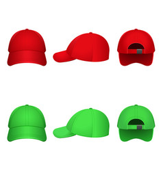 red and green caps vector image