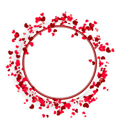 valentine day cute background vector image