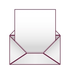 Blank paper envelopes opened with sheet vector image