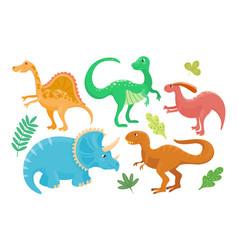 cartoon dinosaurs isolated vector image