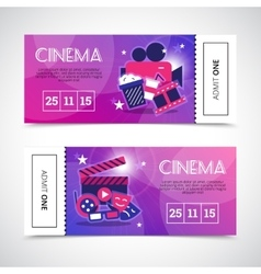 Cinema Horizontal Banners In Ticket Form vector image