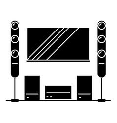 cinema room home theater icon vector image