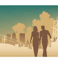 city couple vector image vector image