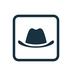 classic hat icon Rounded squares button vector image