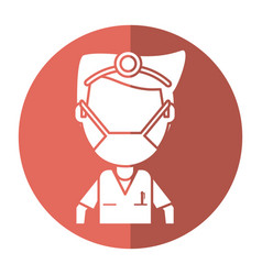 doctor specialist mask medical shadow vector image vector image