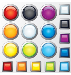 glossy buttons vector vector image