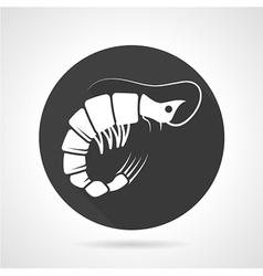 Prawn black round icon vector image