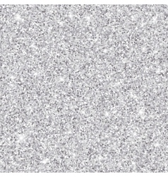 Silver glitter seamless pattern texture vector image vector image