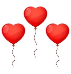Three Balloon Hearts vector image