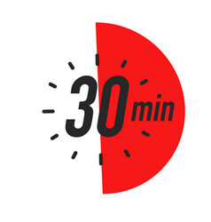 30 minutes timer symbol color style vector