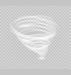 a glowing tornado rotating wind beautiful wind vector image