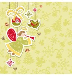 Abstract christmas lovely cute card vector