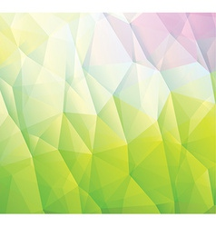 Abstract green background made from triangles vector image
