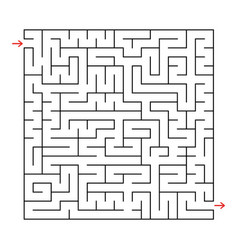 Abstract square labyrinth with a black stroke an vector