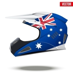 Australia Flag on Motorcycle Helmets vector