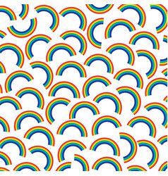 background pattern with rainbows vector image