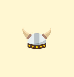 barbarian icon flat element vector image