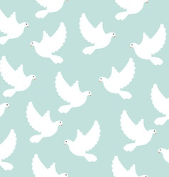 Blue bird pattern vector image