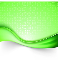 Bright green swoosh line background template vector image
