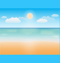 bright summer sky sea sand beach background vector image