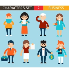 Business male and female characters with vector