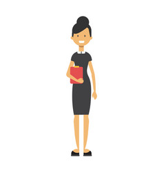 businesswoman with notebook business woman full vector image
