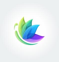 Butterfly icon logo design template vector