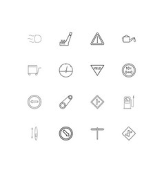 cars and transportation simple linear icons set vector image