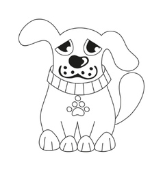 Cartoon puppy coloring book page for children vector image