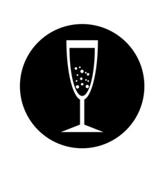 Champagne cup isolated icon vector