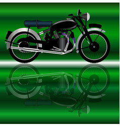 Classic motor cycle vector