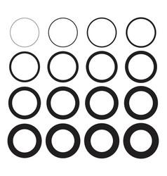 Collection of circle stroke frame borders vector