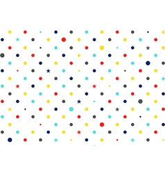 Colorful Dots White Background vector image