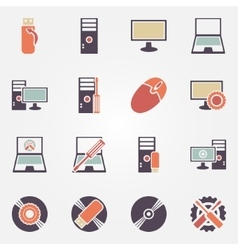 Computer repair icons vector image