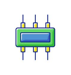 Connector rgb color icon vector