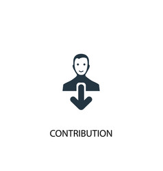 Contribution icon simple element vector