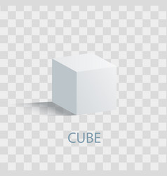 cube isolated geometric figure of white color vector image