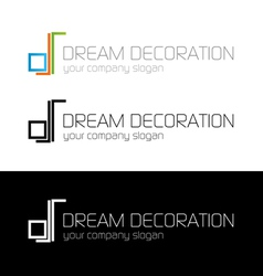 Dream decoration logo template vector
