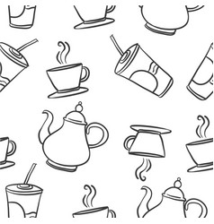 Drink sketch hand draw doodles vector