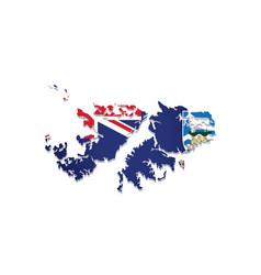 falkland islands flag amp map vector image